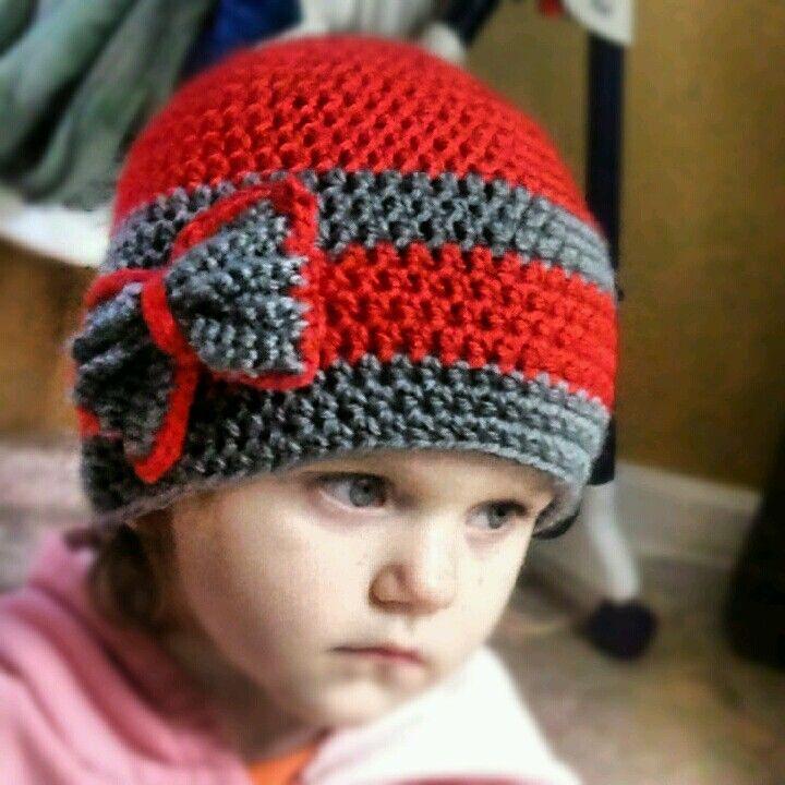 Ohio state! toddler girls crocheted hat! | Gancho | Pinterest ...