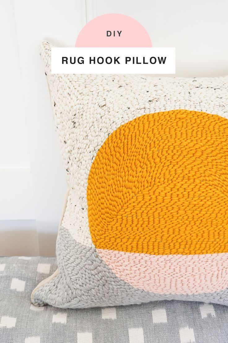 Diy rug hook pillow always diy pinterest diy rug hooking and