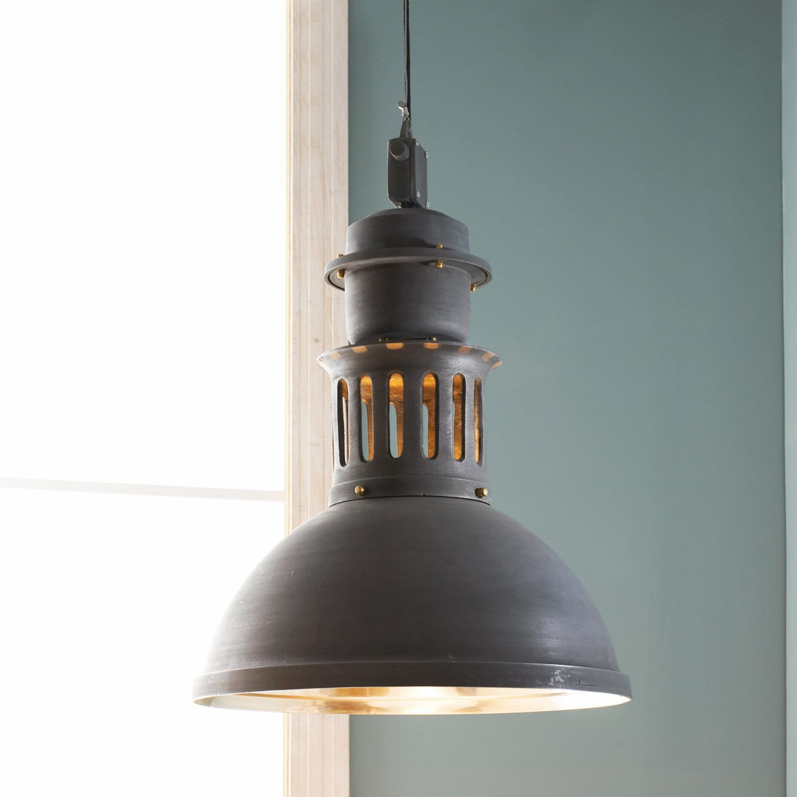 of large soft white shades industrial light products warehouse pendant