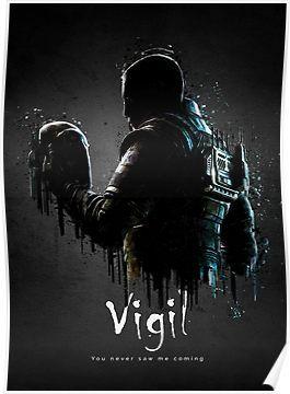 Operator Vigil Poster Rainbow six siege poster, Rainbow