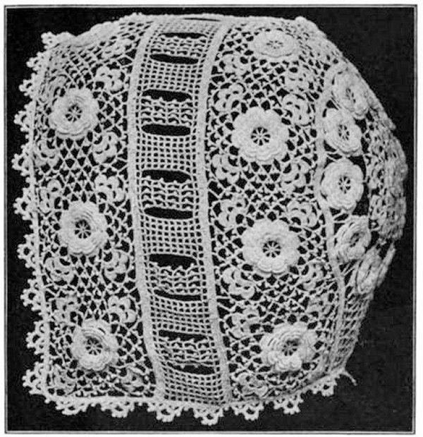 Irish Crochet Baby Bonnet Pattern PDF Vintage Crochet Lace 1916 ...