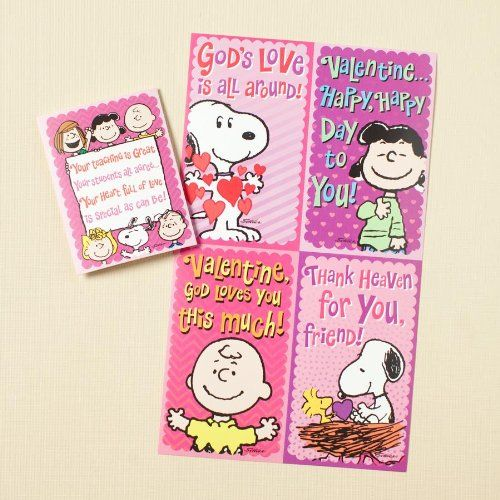 Download Peanuts Snoopy God's Love is All Around Valentine Cards ...