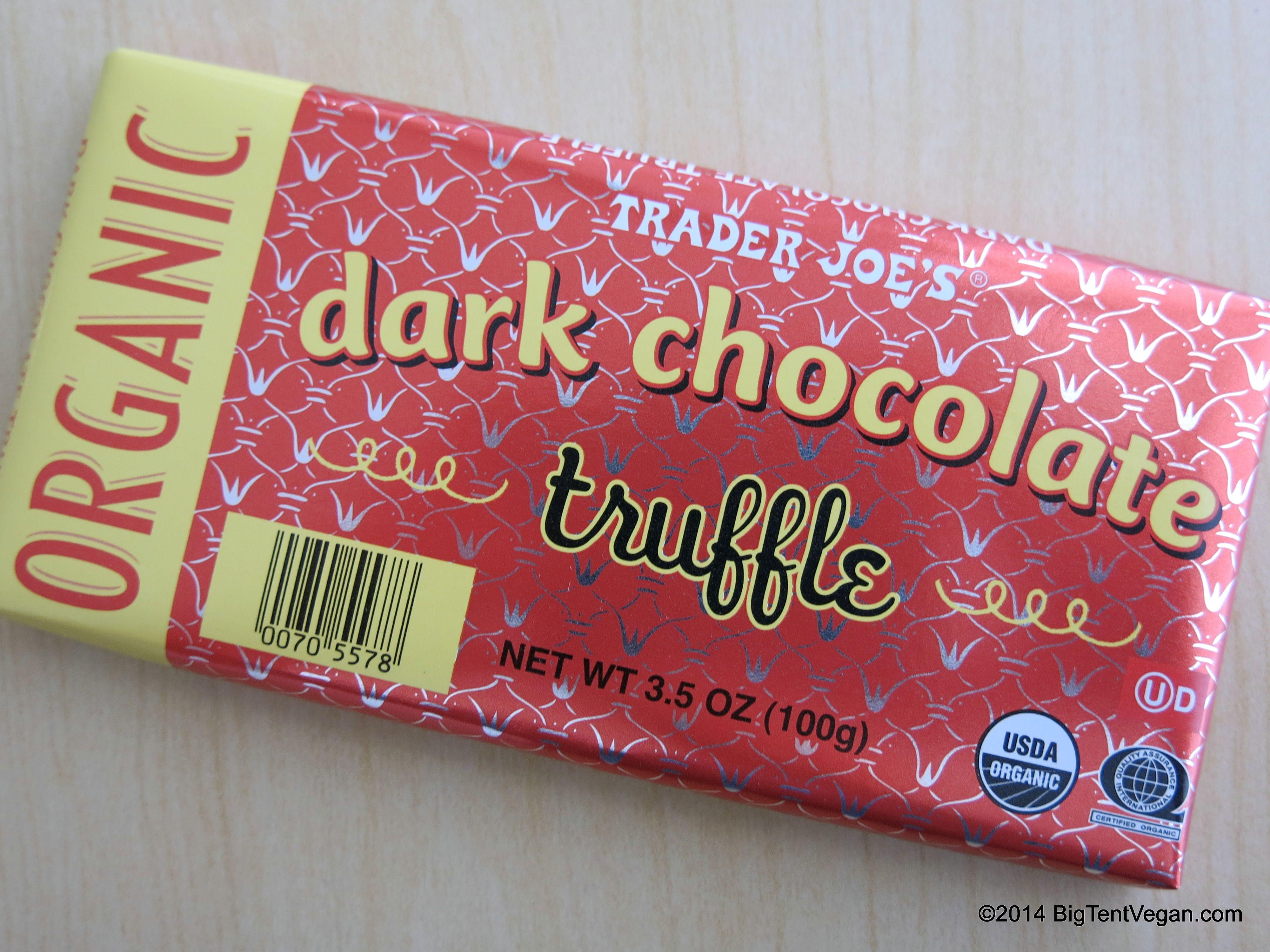 Image result for trader joe's dark chocolate truffle bar