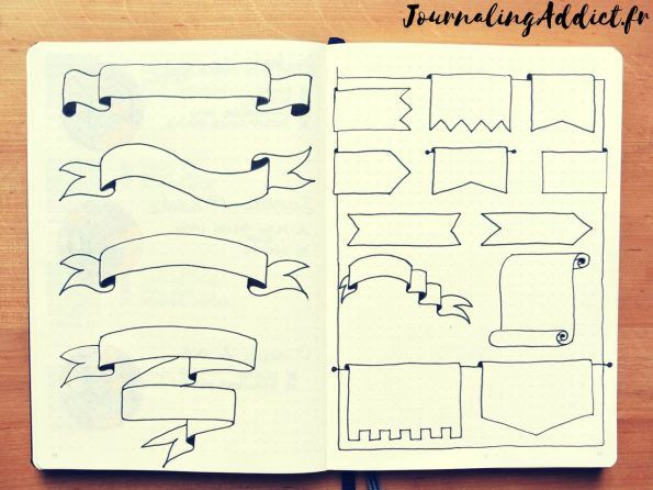 16 id es de banni res pour le bullet journal bullet journals bullet and journal. Black Bedroom Furniture Sets. Home Design Ideas