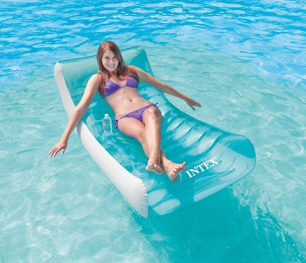 intex inflatable lounge chair. Intex Pool Floats Rockin Inflatable Lounge Air Mattresses 74\ Chair N