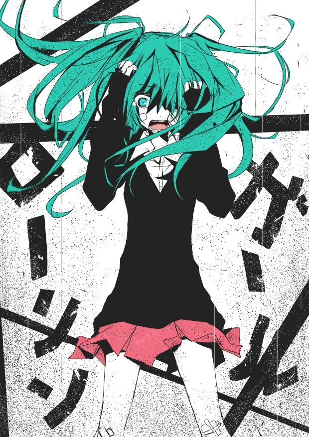 Hatsune Miku - Vocaloid Rolling Girl http://www.youtube.com/watch?v=qxK9RbzmI7o