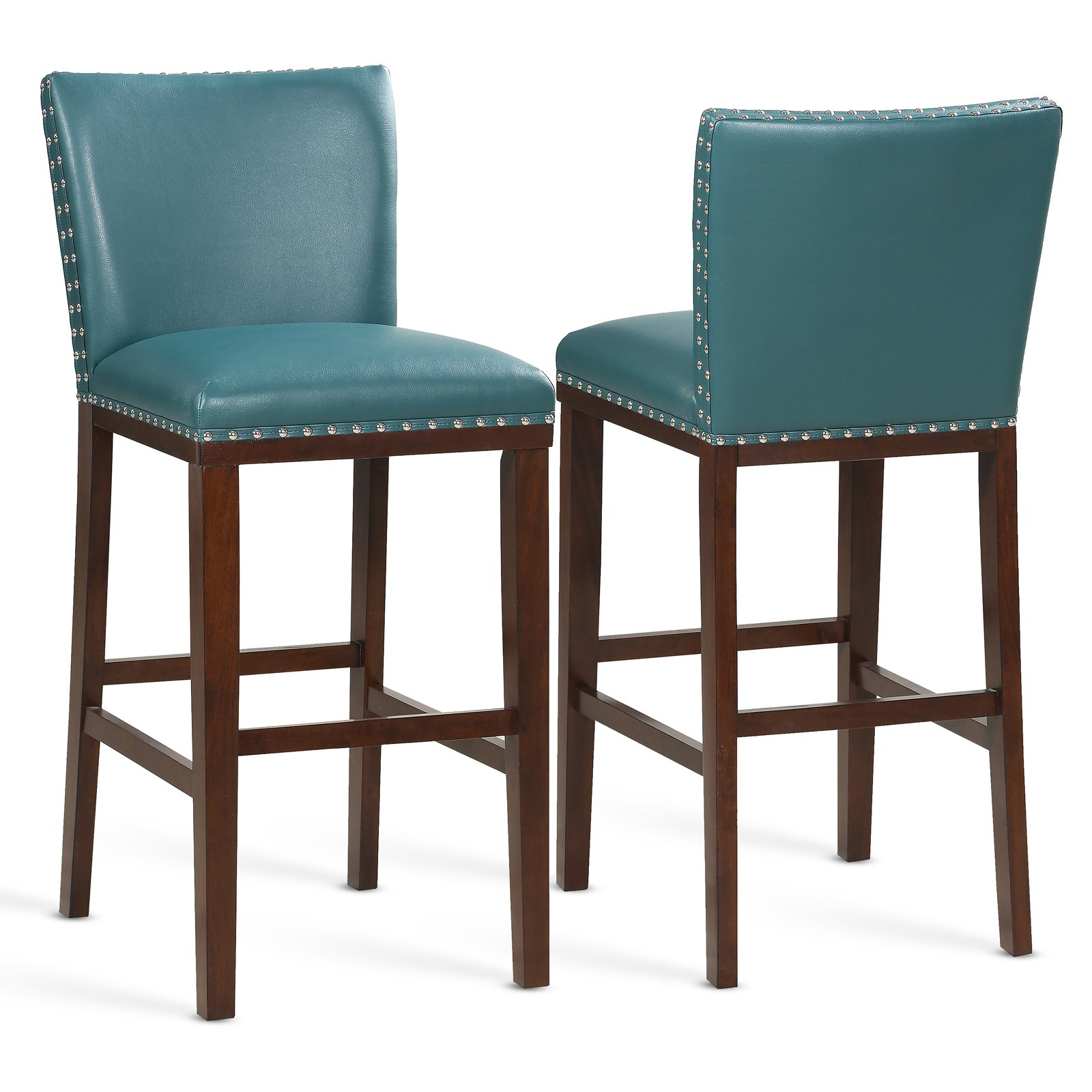 Fabulous Steve Silver Co Tiffany Barstool Set Of 2 Peacock Ibusinesslaw Wood Chair Design Ideas Ibusinesslaworg