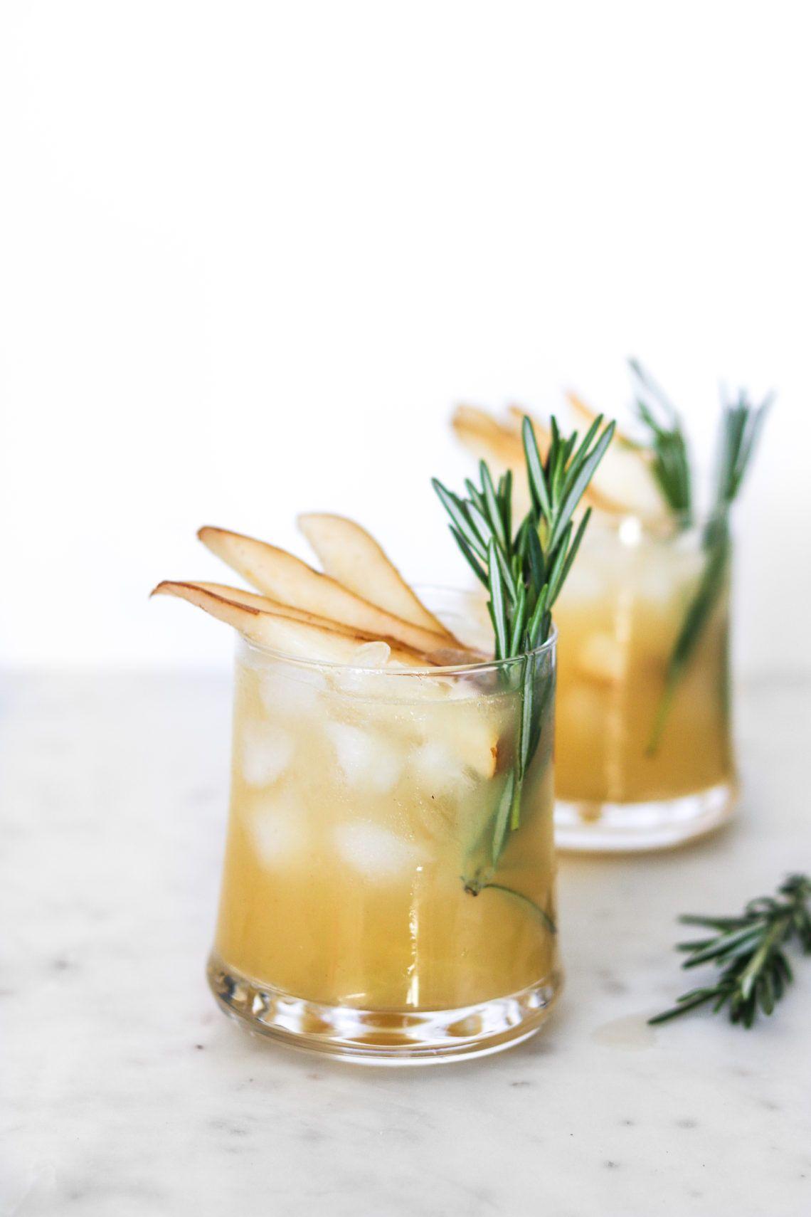 Pear Vanilla Rosemary Cocktail Recipe Rosemary Cocktail Pear Vanilla Cocktail Pear Cocktails
