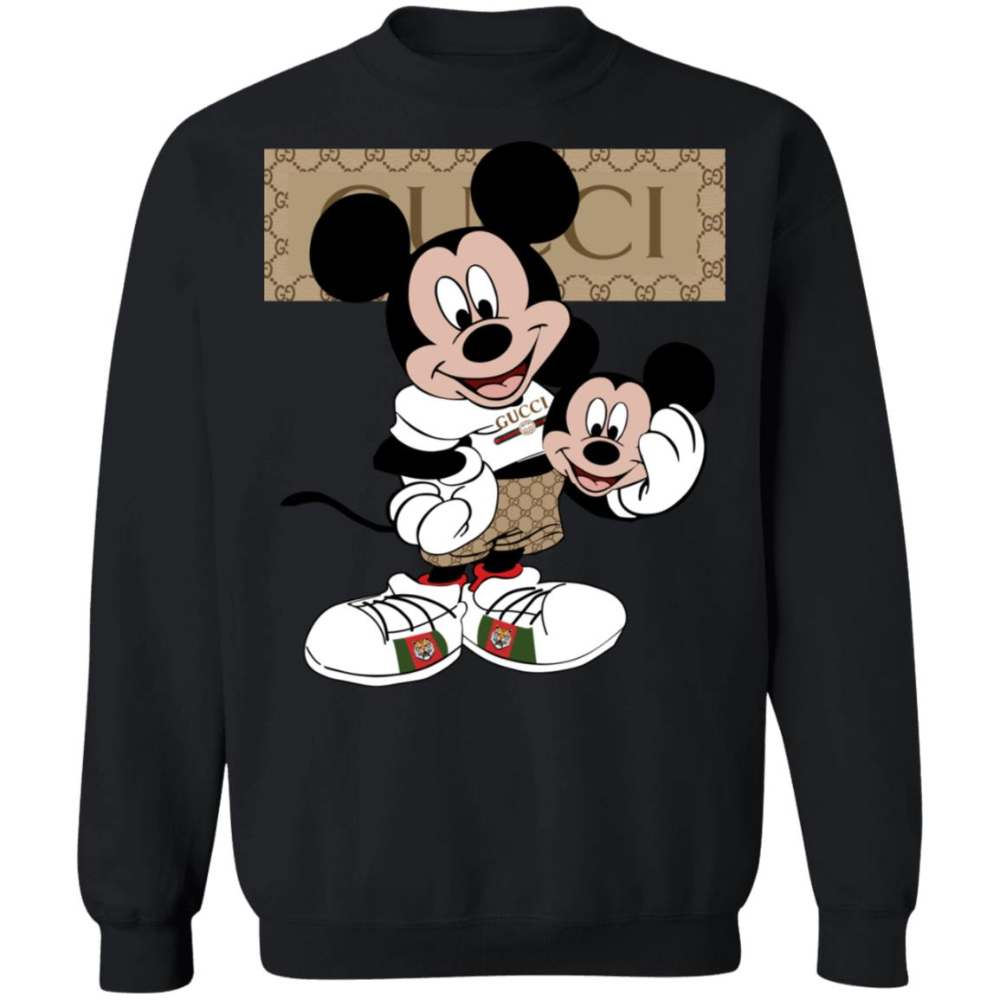 Mickey Mouse Gucci Custom Unisex Pullover Sweatshirt - BooBeeShop |  Sweatshirts, Mickey mouse sweatshirt, Mickey