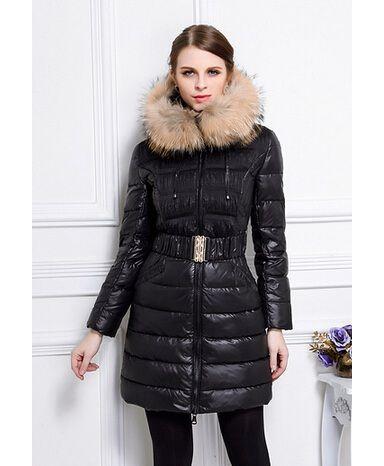Achat Moncler femme manteau hiver capuchon fourrure pas cher Down Parka,  Down Coat, Mon bfd365b9878