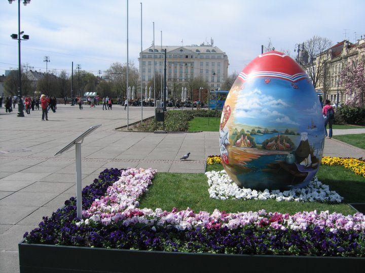 Easter Eggs In Zagreb Zagreb Easter Eggs Croatia