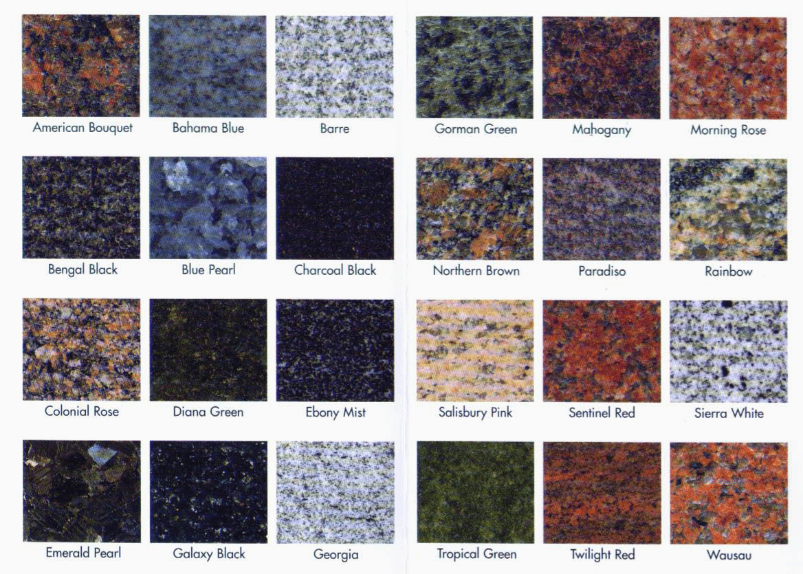 Granite countertops marble countertops colors of granite for Kitchen granite countertops colors