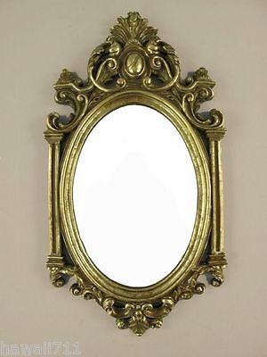 Espejo De Pared Barroco Suelo Del Baño Antiguo decoración Oro Marco ...