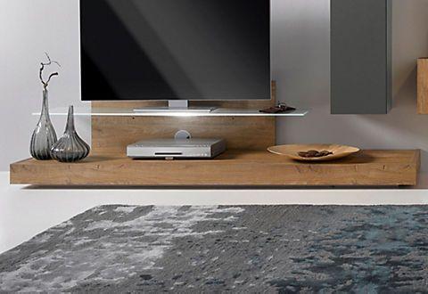 lc tv podest mit glasboden in eichefarben natur im online shop von baur versand wand m bel in. Black Bedroom Furniture Sets. Home Design Ideas