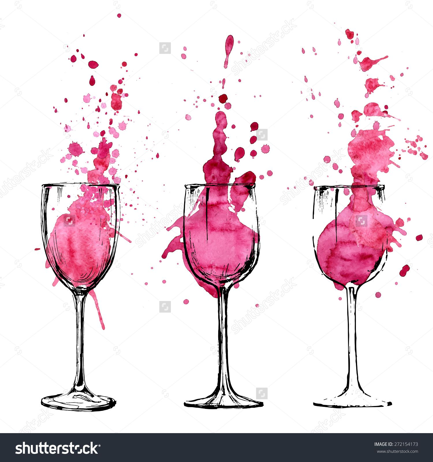 Wine illustration sketch and art style draws pinterest art