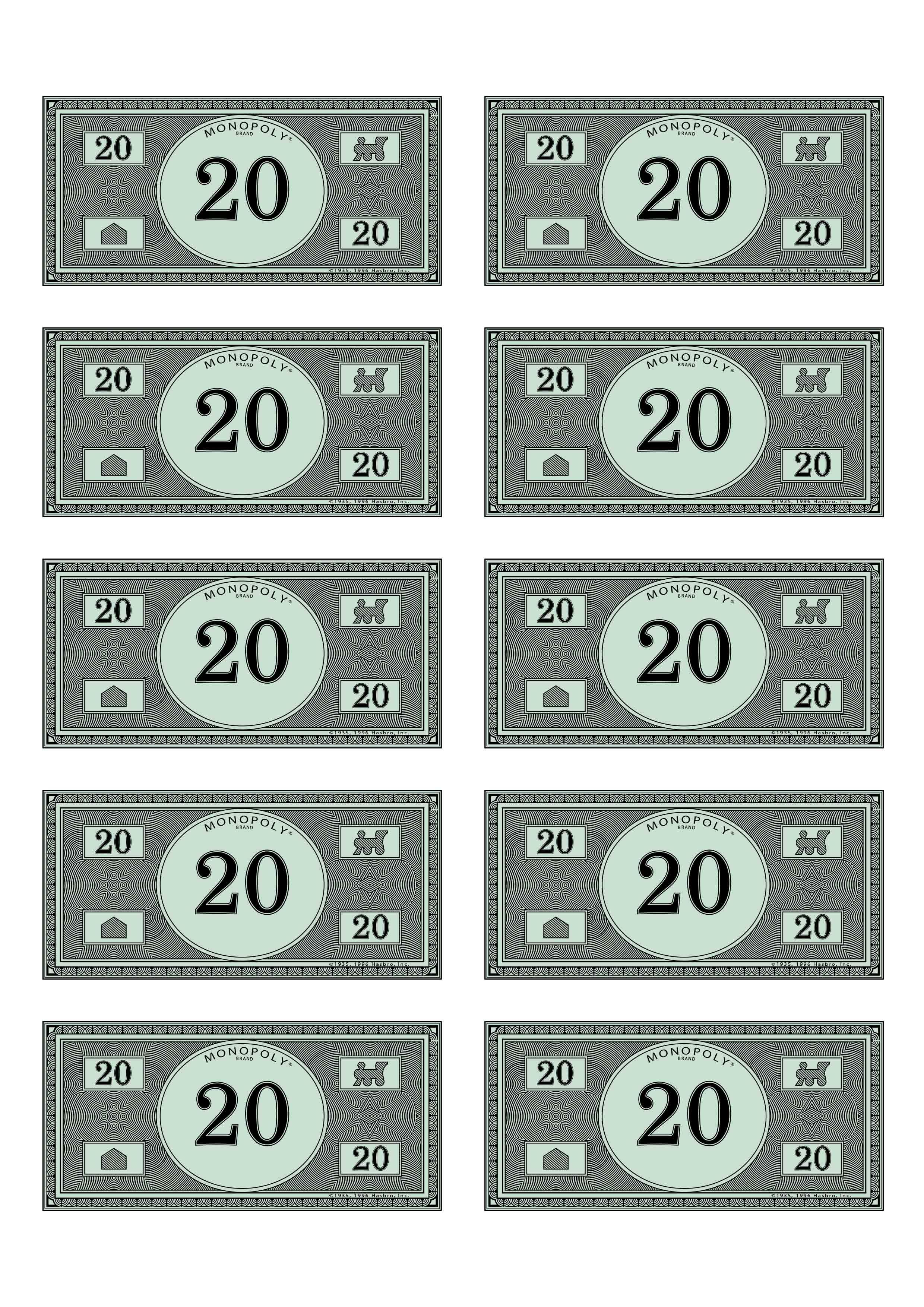 Monopoly money 20 budget pinterest for Custom monopoly board template
