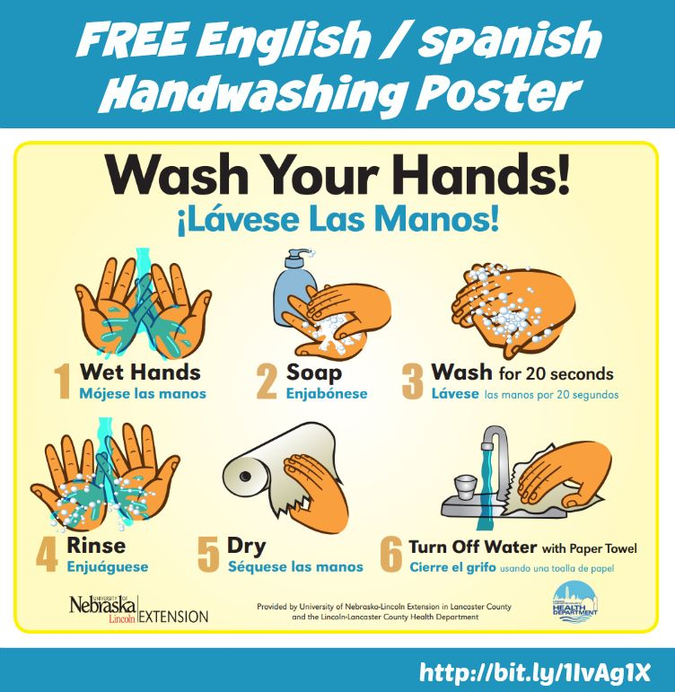 Kitchen Safety For Kids Worksheets: Free #handwashing Poster From Nebraska Extension To Help