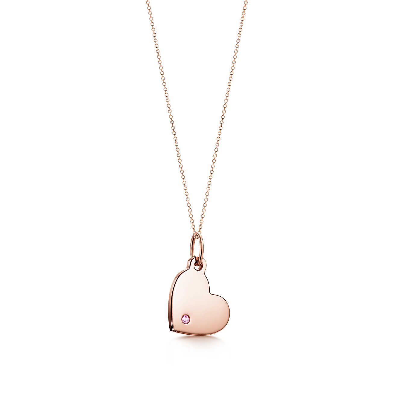 7e70c5c433b0 Dijes Tiffany  placa estilo corazón Dije De Corazon
