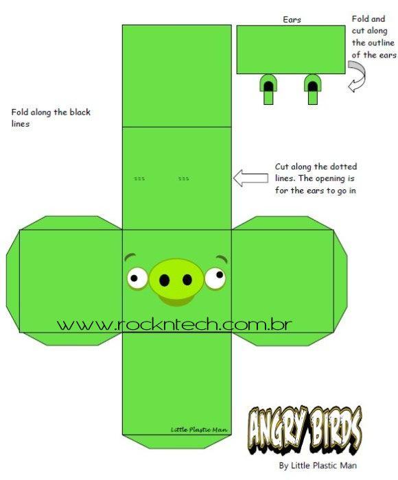 Angry Birds em Papercraft disponível para download. | Papercraft ...