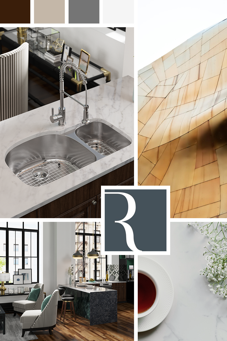 For a kitchen that has both style and durability, choose a ...