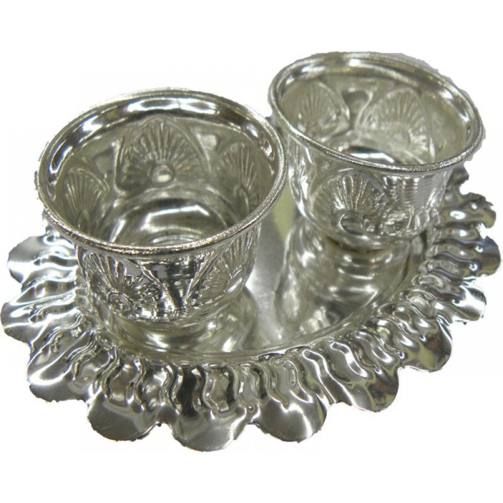 Return gift silver pooja items home temple silver ornaments silver coins silver