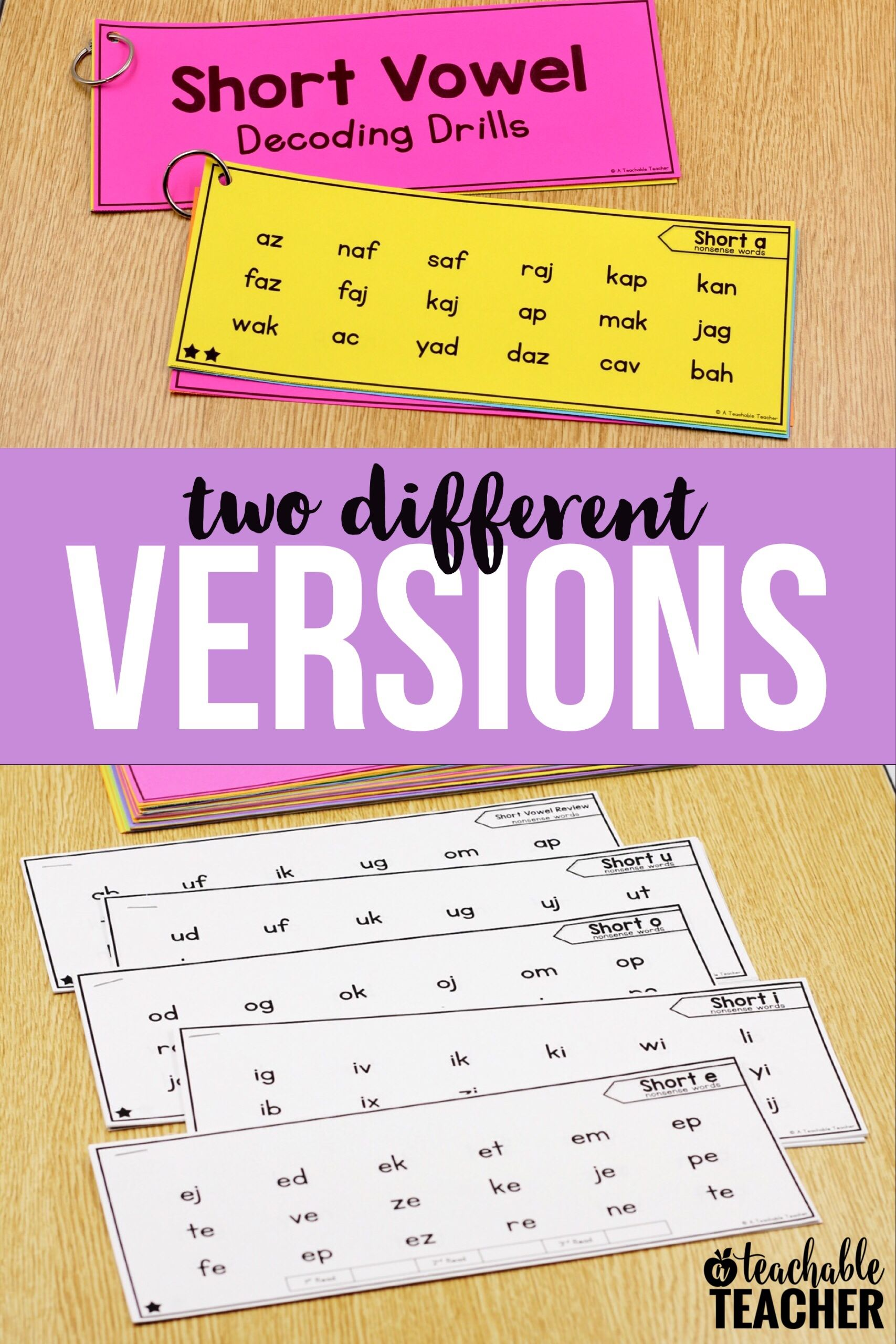 Decoding Drills For Fluency