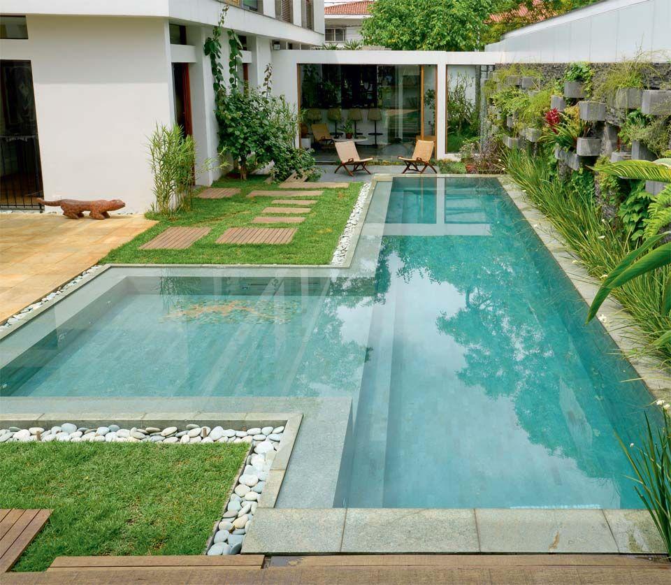 Estilo piscinas home jardin con alberca pinterest - Piscina prefabricada pequena ...