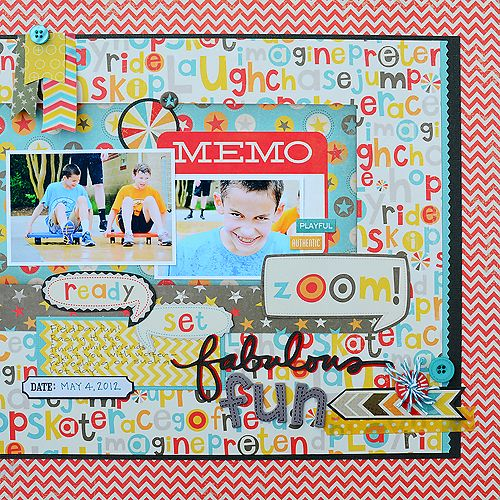Layout created by Suzanna Lee using My Mind's Eyes Boy Crazy collection