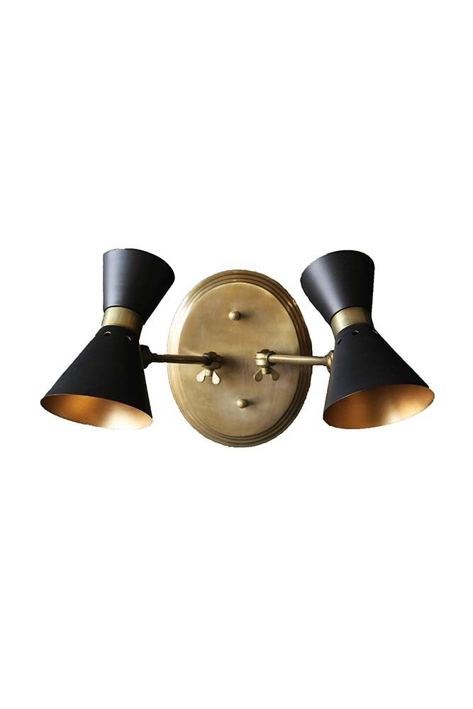 Grace black gold double wall light from rockett st george wall grace black gold double wall light from rockett st george aloadofball Gallery