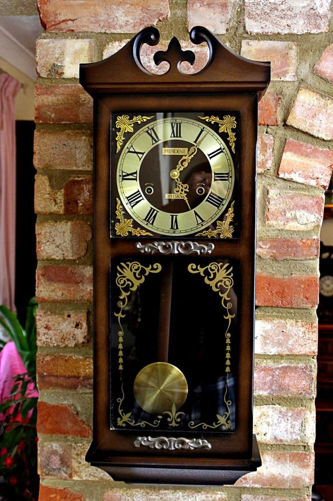 Vintage 31 Day Wall Clock President With Chimes