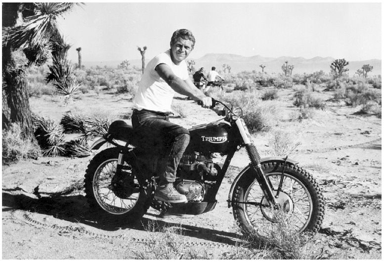 STEVE McQUEEN DOIN' IT IN THE DIRT | TRIUMPH DESERT BIKE BY BUD EKINS | The Selvedge Yard