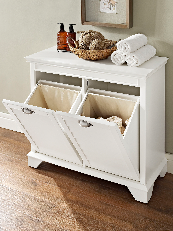 Wooden Dual Clothing Hamper Furniture Bathroom Furniture