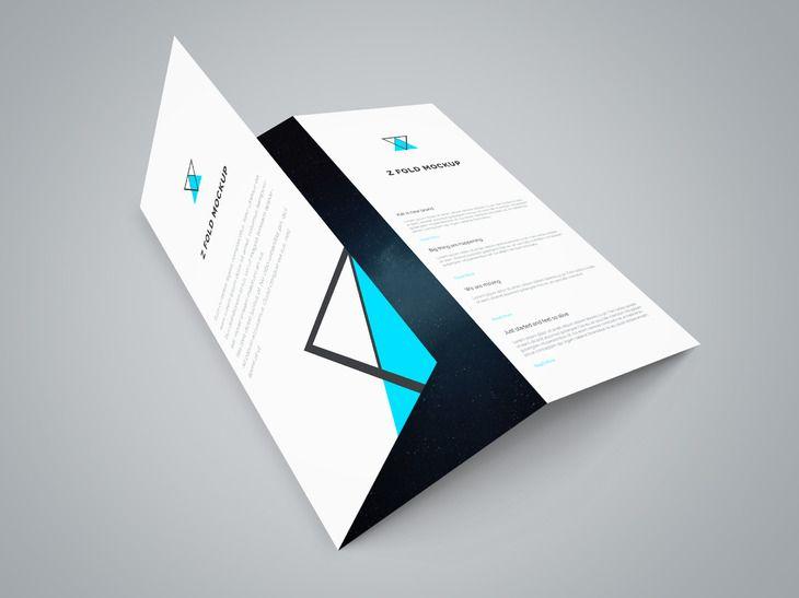 Free Tri Fold Brochure PSD Mockup 29 MB – Gate Fold Brochure Mockup