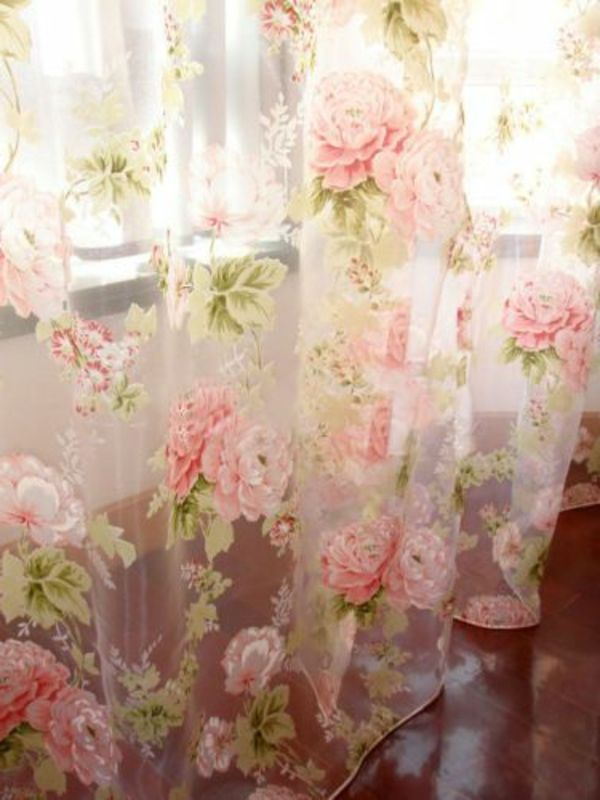 gardinen dekorationsvorschläge zarte rosen | Cottage   Rose in