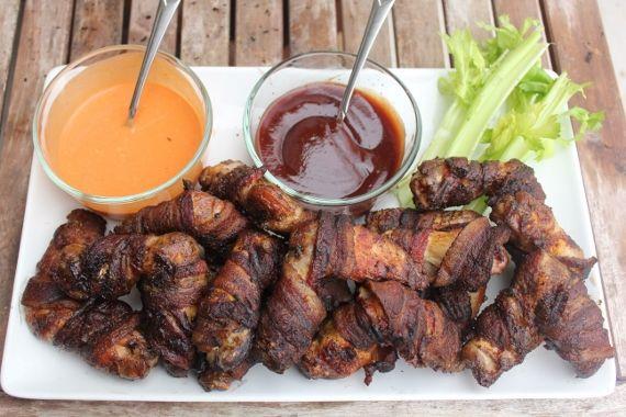 Bacon Wrapped Chicken Wings Recipe In 2019 Pellet Grill Recipes Traeger Bacon Traeger Recipes