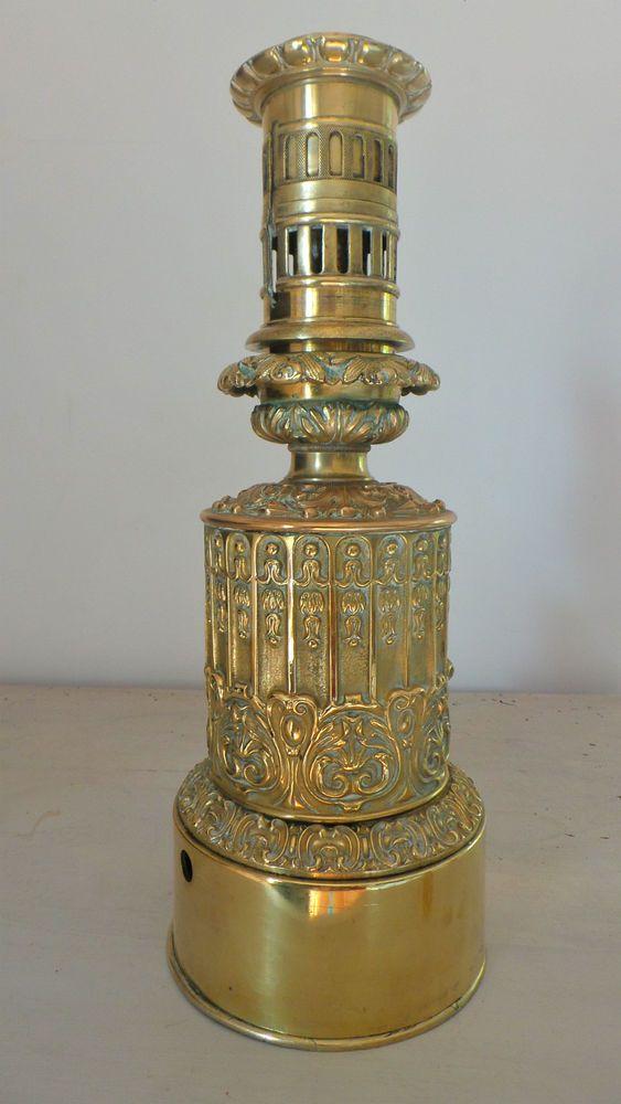 Rare Lampe A Petrole Huile Carcel Mouvement Horlogerie Carcel