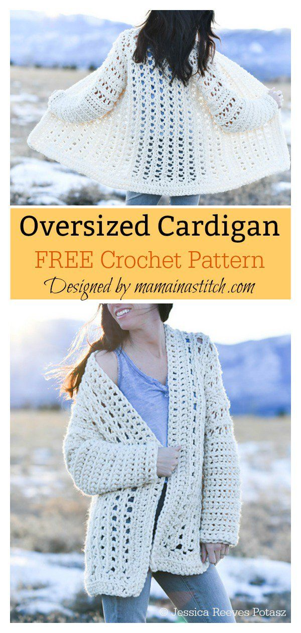 88cec1f7e Easy Oversized Cardigan FREE Crochet Pattern