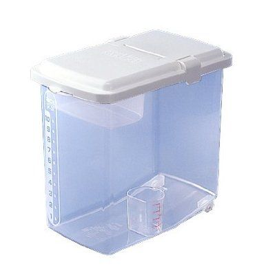 Japanbargain Brand Plastic Kome Bitsu Rice Storage Container 22 Lbs Storage Containers With Wheels Food Storage Shelves Food Storage Containers
