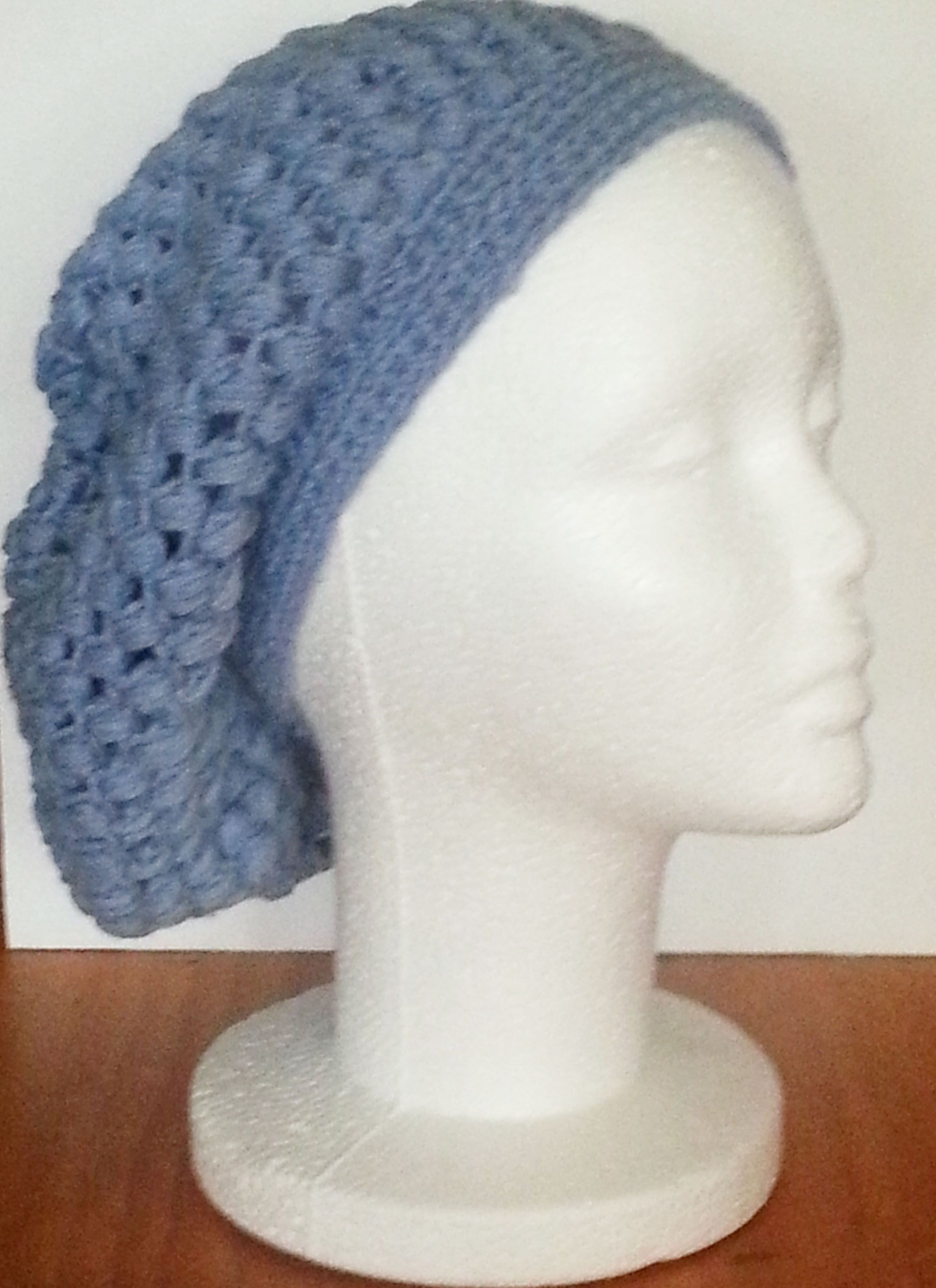 Blue slouch beanie | My Crochet | Pinterest