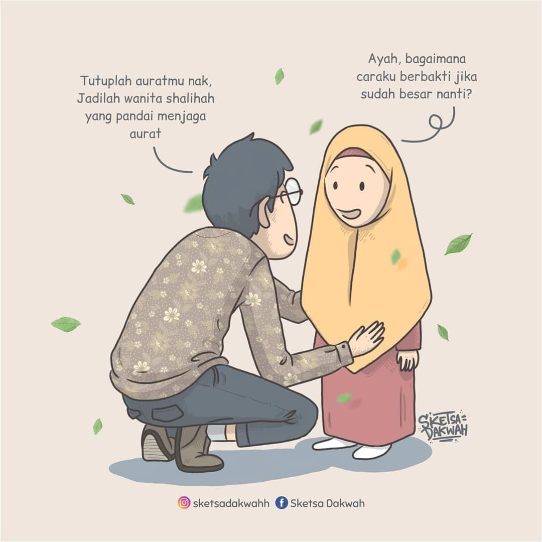 Hadiah Terbaik Untuk Ayah Tercinta Adalah Dengan Menutup Aurat Menjaga Kehormatan Dengan Sebaik Baiknya Ayah Kutipan Persahabatan Terbaik Ungkapan Lucu