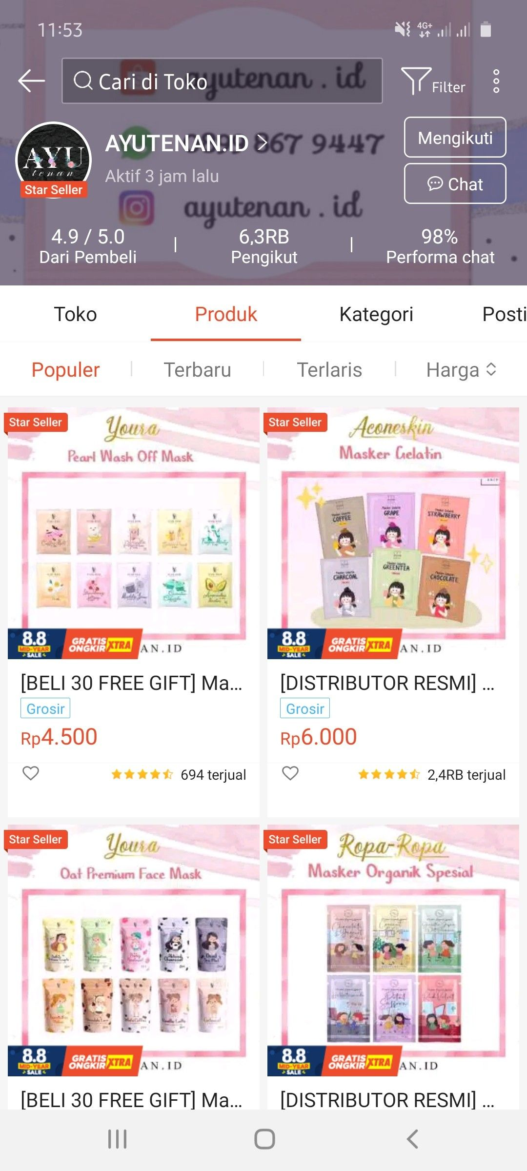 Pin Di Online Shop