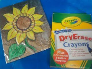 Dry erase crayons + tin foil = cool!