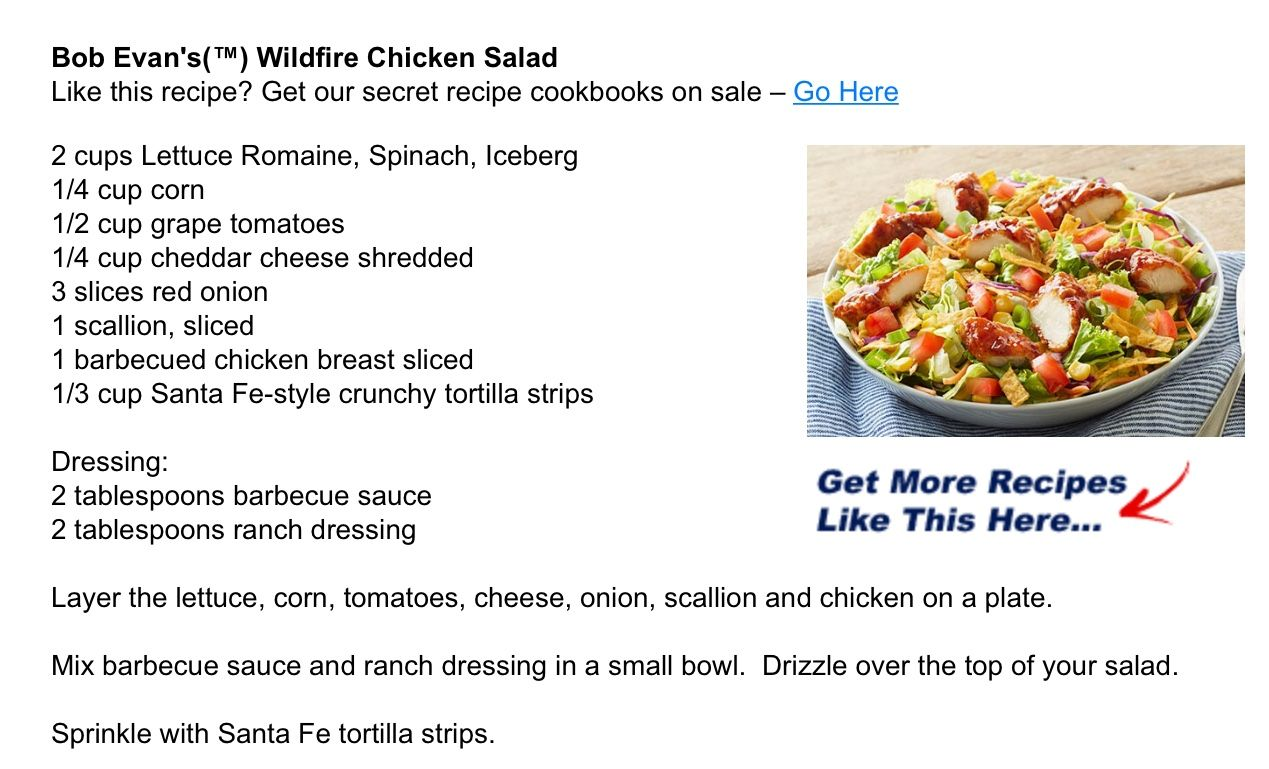 Bob Evans Wildfire Chicken Salad | Copy Cat Recipes in 2019