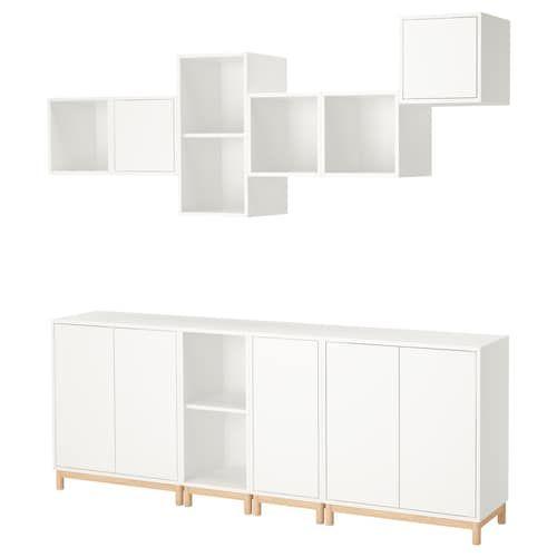 Storage Combination With Legs Eket White Home Ideas Ikea Eket
