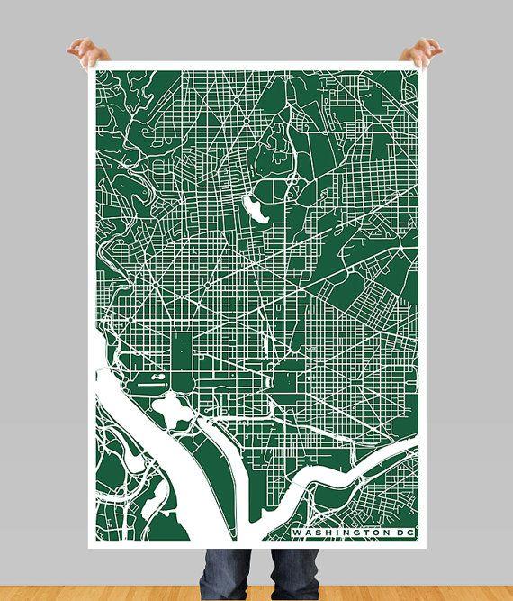 Washington dc city map printable download jpg file wall print high resolution printable image of washington dc city map print frame it yourself solutioingenieria Image collections