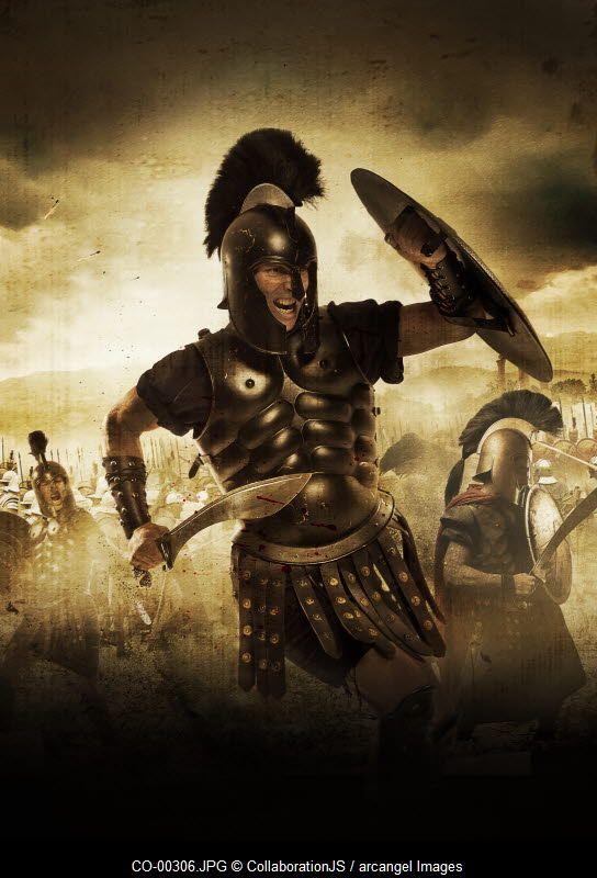 A Spartan warrior  CollaborationJS  Arcangel Images
