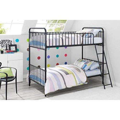 Bed Frame Diy Black Vintage Design Metal Tube Twin Bunk Bed With