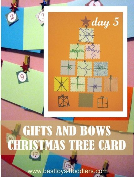 Gifts and Bows Christmas Tree Card Trees, Christmas trees and Home