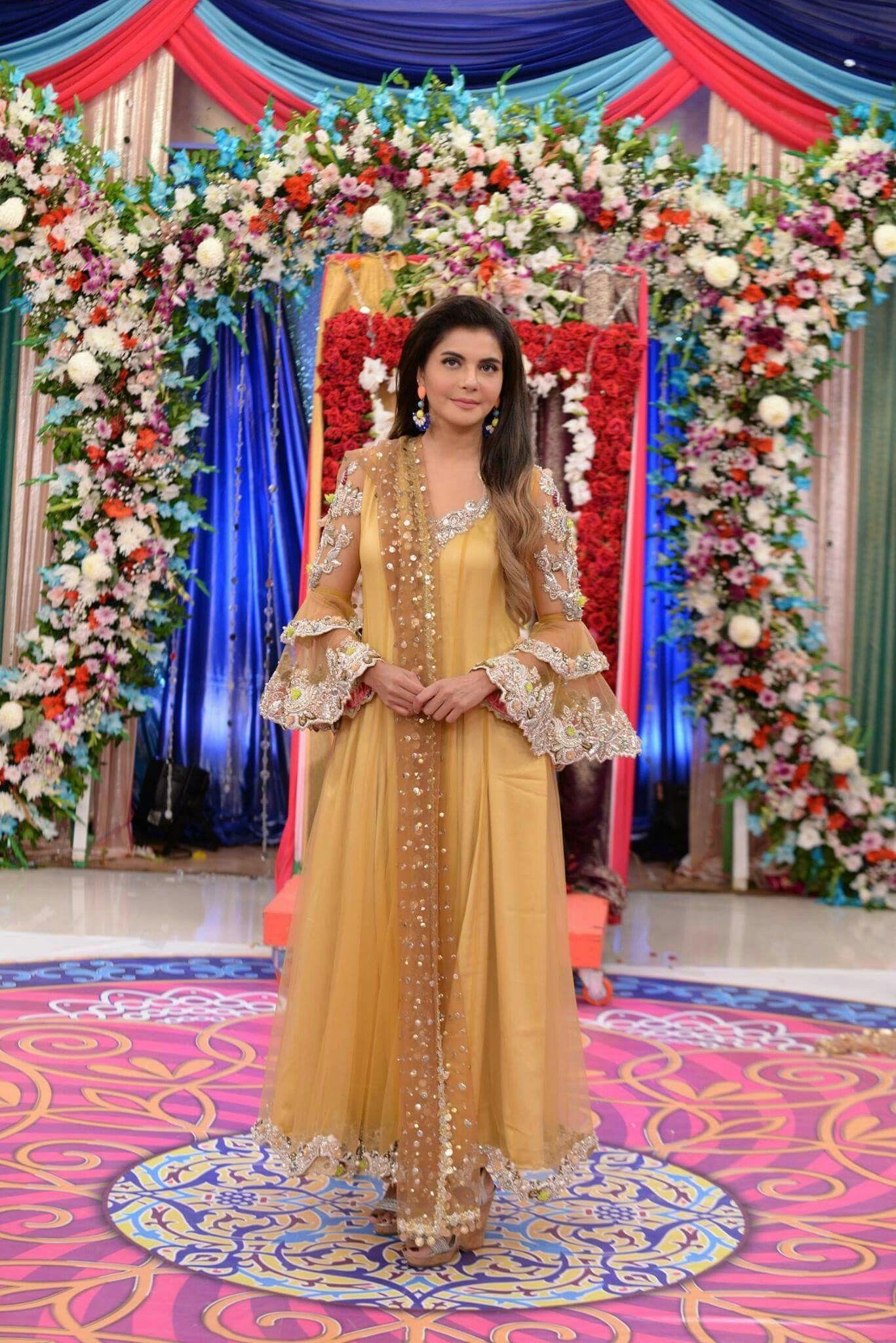 Royal blue n yellow dress  GMP beauty queen special week  PaKiStAni actress  Pinterest