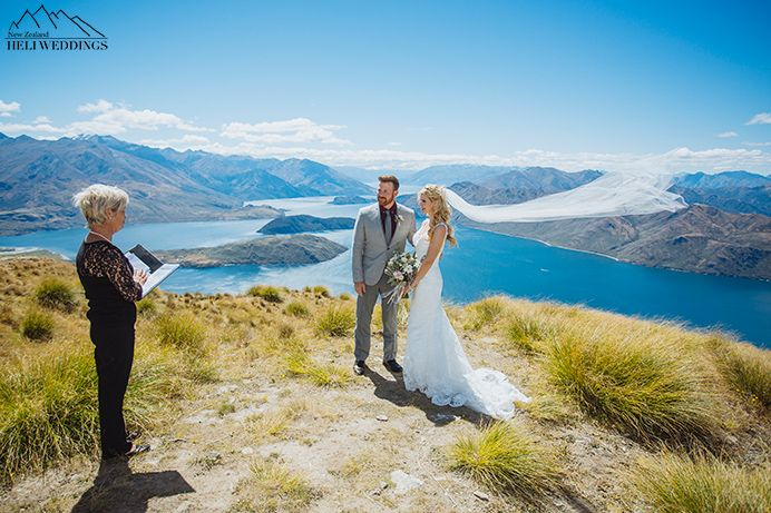 A New Zealand Destination Wedding With Heli Ceremony On Coromandel Peak In Wanaka Mendy Had Taylor Swift Look That Was Just Amazing
